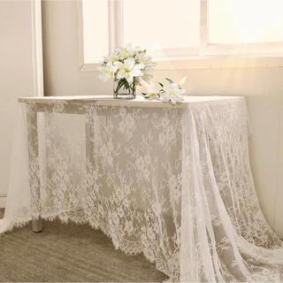 ザラホーム(ZARA HOME)の【150×300cm】レースクロス♥韓国インテリア マルシェ結婚式 装飾(生地/糸)