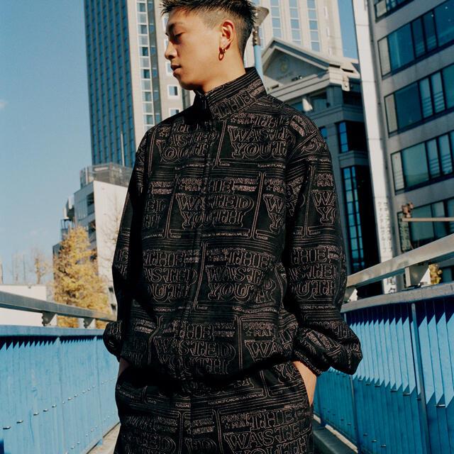 GDC(ジーディーシー)のBlack Eye Patch Wasted Youth 刺繍ジャケット メンズのジャケット/アウター(ナイロンジャケット)の商品写真