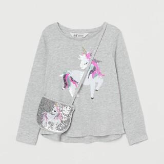 H&M - H&M ユニコーン トップス&ショルダーバッグ 135/140㎝