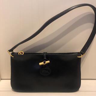 LONGCHAMP - 新品!ロンシャン ブラックレザーハンドバッグ