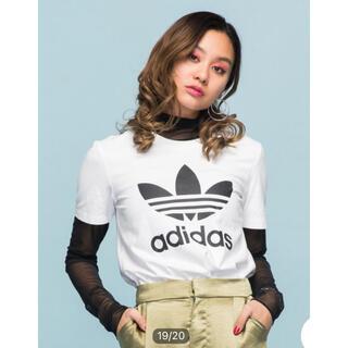 adidas - 新品タグ付き!adidas ボーイフレンド トレフォイル 半袖Tシャツ 白
