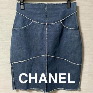 シャネル(CHANEL)のCHANEL デニム スカート (ひざ丈スカート)