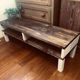 アンティークシンプル木目調センターテーブル お洒落家具(ローテーブル)