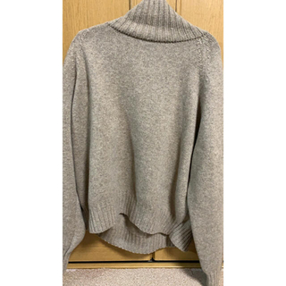 COMOLI - stein EX FINE LAMBS LOOSE HIGH NECK KNIT