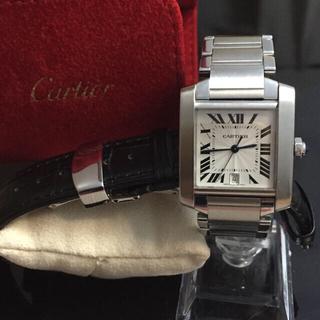 Cartier - カルティエ   タンク  フランセーズ LM  OH済み  レザーベルト付き