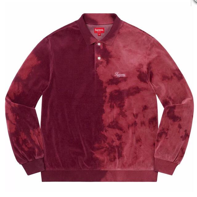 Supreme(シュプリーム)のSupreme Bleached Velour L/S Polo  XL メンズのトップス(ポロシャツ)の商品写真