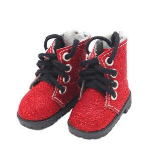 kpop 20cmセンチぬいぐるみ用服 ミニチュア靴 赤 ブーツ bts exo