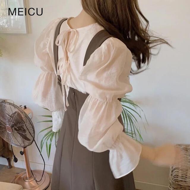 バックリボンブラウス レディースのトップス(シャツ/ブラウス(長袖/七分))の商品写真