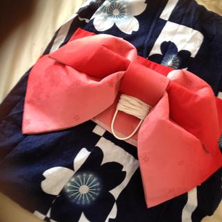 紺色X赤 浴衣セット*(浴衣)