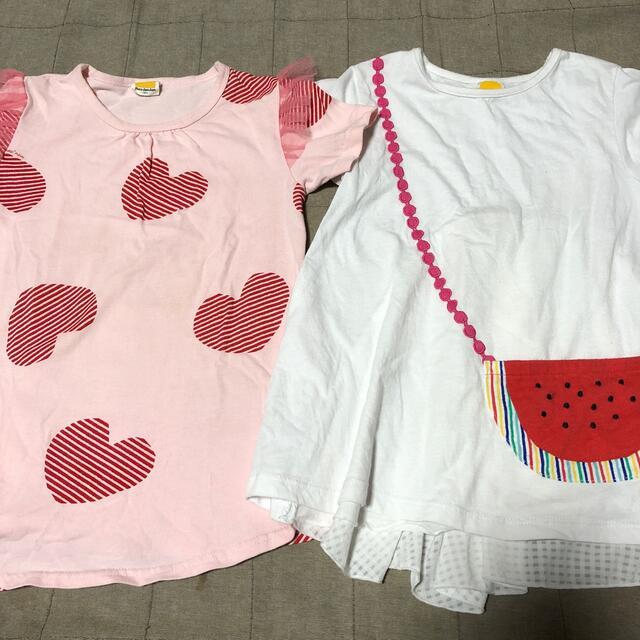 mou jon jon(ムージョンジョン)のムージョンジョン 半袖Tシャツ キッズ/ベビー/マタニティのキッズ服女の子用(90cm~)(Tシャツ/カットソー)の商品写真