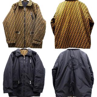 FENDI - FENDI (フェンディ) ズッカ柄リバーシブルジャケット ブラック サイズ:1