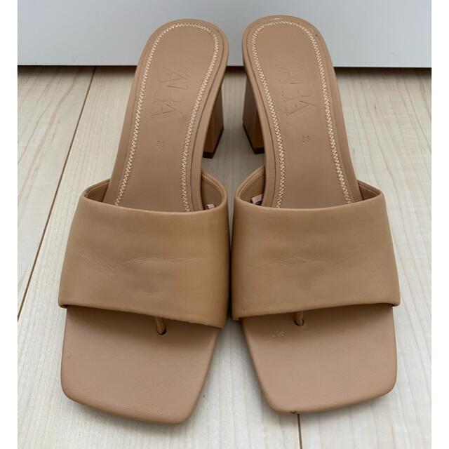 ZARA(ザラ)のZARA 本革ミュール サンダル 36 レディースの靴/シューズ(サンダル)の商品写真