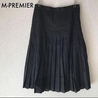 エムプルミエ(M-premier)のエムプルミエ  フレアスカート プリーツスカート 黒 サイズ34(ひざ丈スカート)