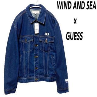 ゲス(GUESS)の●【タグ付き】GUESS wind and sea コラボ デニムジャケット●(Gジャン/デニムジャケット)