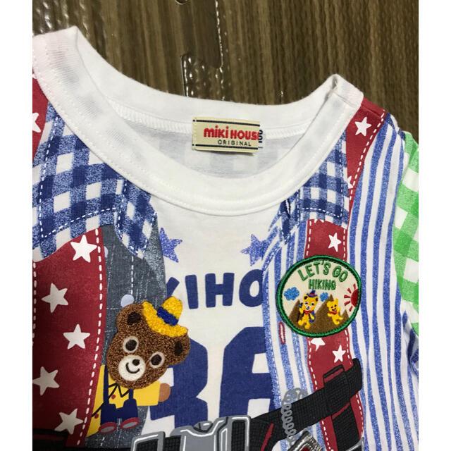 mikihouse(ミキハウス)のミキハウス 豪華tシャツ 美品 キッズ/ベビー/マタニティのキッズ服男の子用(90cm~)(Tシャツ/カットソー)の商品写真
