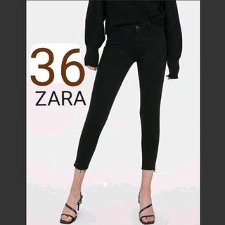 ZARA - 【未使用】 ZARA  ミッドライズ スキニー デニム パンツ 黒