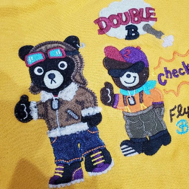 DOUBLE.B(ダブルビー)のミキハウス ダブルB トレーナー 90 キッズ/ベビー/マタニティのキッズ服男の子用(90cm~)(Tシャツ/カットソー)の商品写真