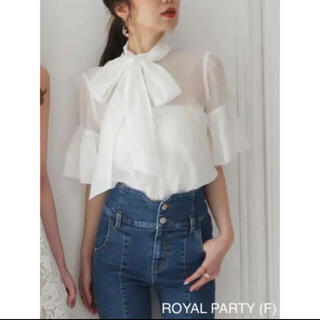 ROYAL PARTY - 2wayリボンシアーブラウス 新品タグ付