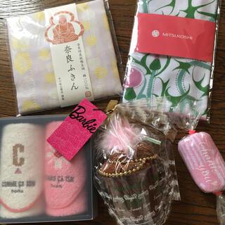 バービー(Barbie)の【新品】ハンカチ ふきん セット(日用品/生活雑貨)
