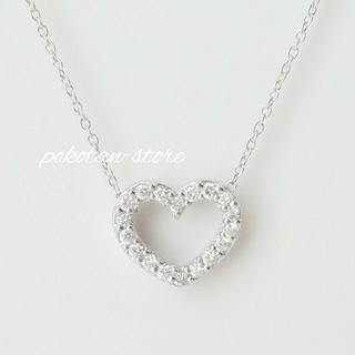 PonteVecchio - 美品【ポンテヴェキオ】K18WG オープンハート ダイヤモンド ネックレス