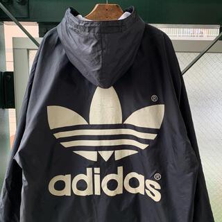 adidas - 80s adidas ナイロンジャケット バックプリント デカロゴ トレフォイル