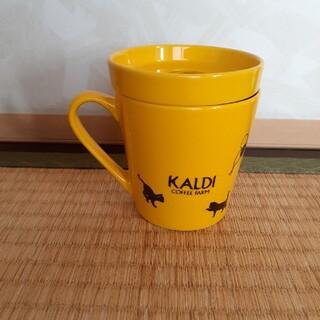 KALDI - 未使用  カルディのフタ付きマグカップ  1788
