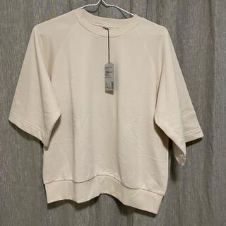MUJI (無印良品) - 無印良品 高密度編み裏毛五分袖トレーナー