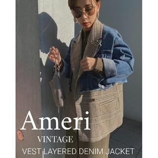 Ameri VINTAGE - Ameri VEST LAYERED DENIM JACKET