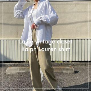 Ralph Lauren - 90s 古着 ラルフローレン ポニー刺繍 白シャツ ユニセックス ビンテージ
