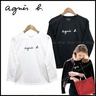 agnes b. - アニエスベー Agnes b 長袖Tシャツ Mサイズ ブラック レディース