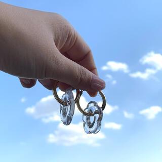 エディットフォールル(EDIT.FOR LULU)の再∞販 clear flower hoop pierce(ピアス)