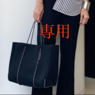 L'Appartement DEUXIEME CLASSE -  STATE OF ESCAPE TOTE BAG(M) ブラック