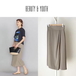 BEAUTY&YOUTH UNITED ARROWS - 20SS BEAUTY&YOUTH ダブルクロスラップタイトスカート