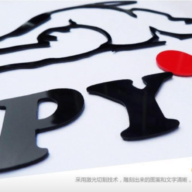 SNOOPY(スヌーピー)のスヌーピー 3Dウォールステッカー インテリア/住まい/日用品のインテリア小物(その他)の商品写真