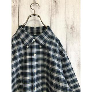 Ralph Lauren - 良品 90s  ラルフローレン オックスフォードBDシャツ チェック L 大きめ
