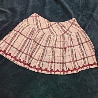 mezzo piano - 【未使用】メゾピアノ スカート インナーパンツつき 130cm