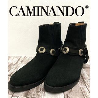 カミナンド CAMINANDO ブーツ コンチョ ボタン スエード 美品