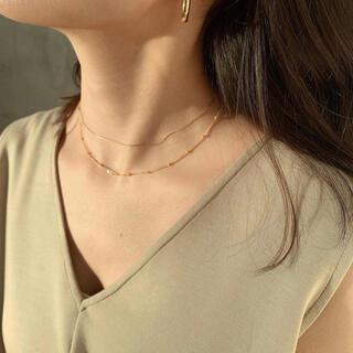 Noble - anuans シルバー925 ゴールドメッキ ネックレス