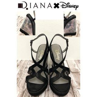 DIANA - 希少 Diana ダイアナ x Disney ミッキーマウス ウエッジソール美品