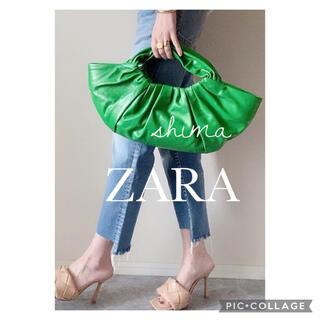 ZARA - ZARA レザーバケットハンドバッグ ワンハンドルバッグ
