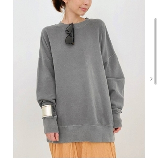 L'Appartement DEUXIEME CLASSE - 【R JUBILEE】Oversize Sweat Shirts/グレーA