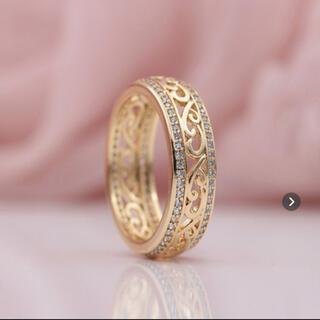 ハワイアンモチーフジュエリー リング 指輪 14k 11号 波デザイン