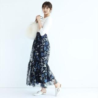 Rirandture - Rirandture(リランドチュール) ベルト付きチュール刺繍スカート