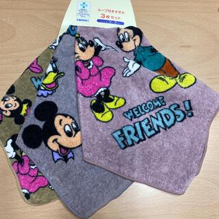 Disney - ディズニー ループタオル 3枚セット バースデイ しまむら 未使用