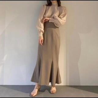 snidel - snidel ♡ ハイウエストヘムフレアツイルスカート