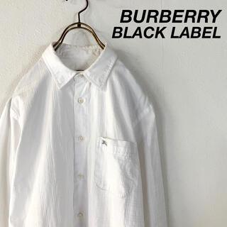 BURBERRY BLACK LABEL - BURBERRY BLACK LABEL シャドウチェック シャツ