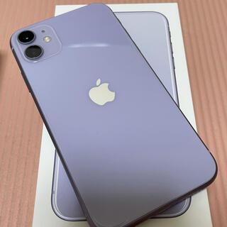Apple - iphone11 64GB パープル SIMフリー 美品