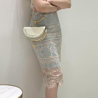 eimy istoire - フラワー刺繍レーススカート