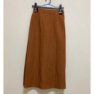 エムプルミエ(M-premier)の新品春夏♡m's  selectリネンAラインロングスカートダークオレンジ♡34(ロングスカート)
