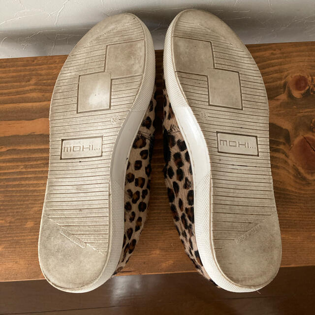 DEUXIEME CLASSE(ドゥーズィエムクラス)のMOHI レオパードハラコスリッポン38 レディースの靴/シューズ(スリッポン/モカシン)の商品写真